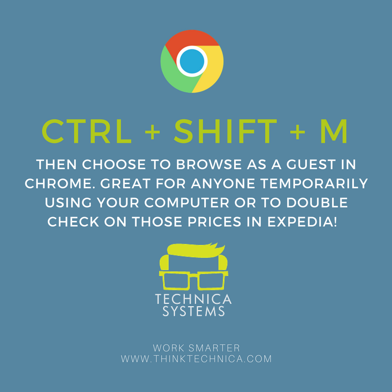 Guest Browsing Keyboard Shortcut in Chrome
